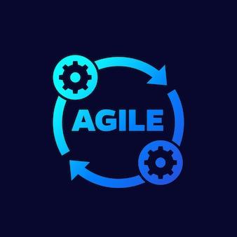 Agile ontwikkelingsmethode vector icon