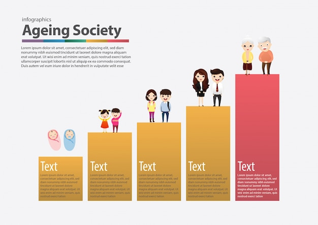 Aging society concept.