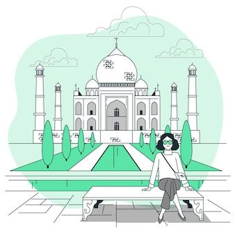 Agra concept illustratie