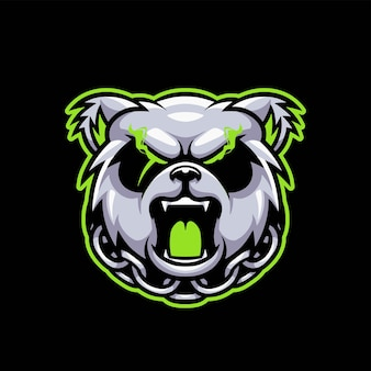 Agressief panda esport gaming-logo