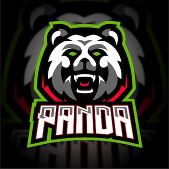 Agressief panda esport mascotte gaming-logo