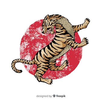 Agressieve tijger