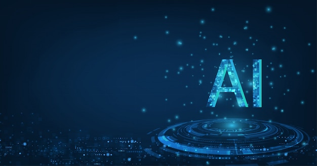 Ai (kunstmatige intelligentie) formulering met het circuitontwerp.
