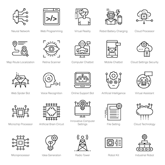 Ai line icons pack