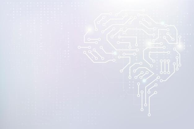 Ai technologie hersenen achtergrond vector digitale transformatie concept