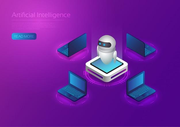 Ai-technologie isometrisch