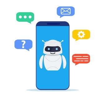 Ai-technologie, slimme chatbot.