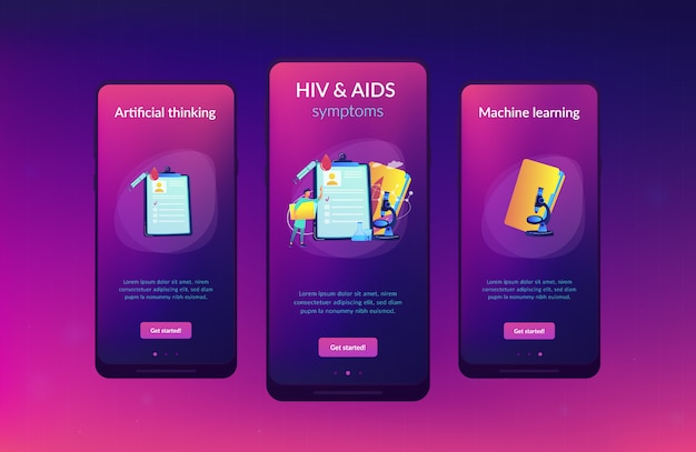 Aids app interface sjabloon.