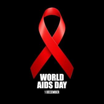 Aids bewustzijn. wereld aidsdag concept.