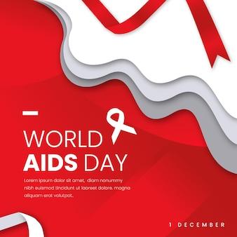 Aidsdagevenement in papieren stijl
