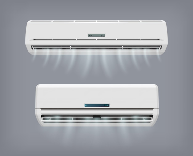 Air conditioner vector apparaat voor thuisconditionering.
