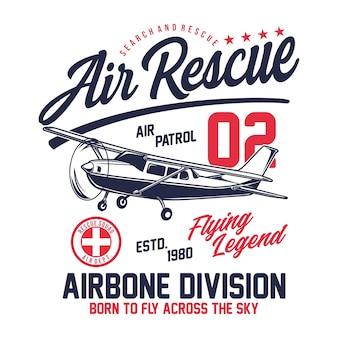 Air rescue typografisch ontwerp