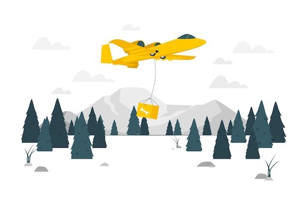 Air support concept illustratie