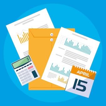 Air view-documenten en kantoorsetitems