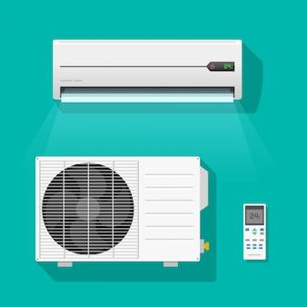 Airconditioner eenheden vector set geïsoleerd