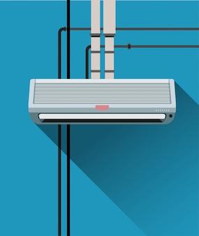 Airconditioningsysteem met buizen