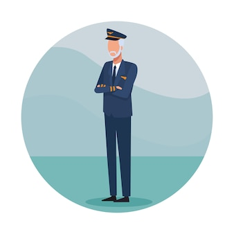 Airliner pilot job worker