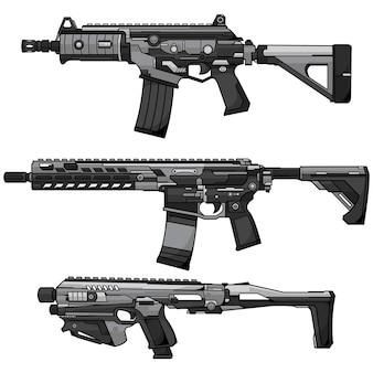 Airsoft pistool vector ontwerp