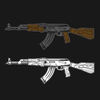 Ak geweer illustratie