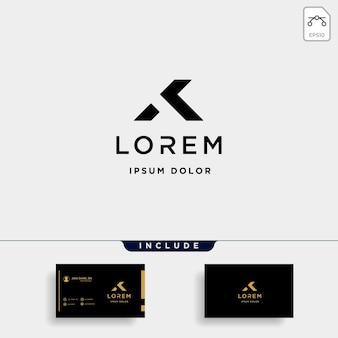 Ak k letter home luxe premium logo vector