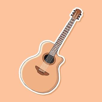 Akoestische gitaar cartoon ontwerp