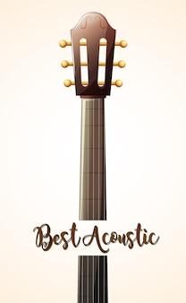 Akoestische gitaar met woord beste akoestische