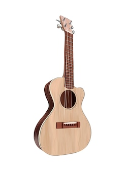 Akoestische gitaar van veelkleurige verf splash van aquarel gekleurde tekening realistisch