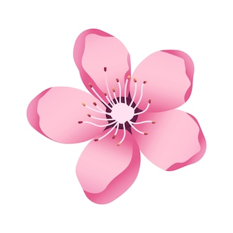 Akura bloem icoon delicate kersenbloesem bloemblaadjes lente motieven