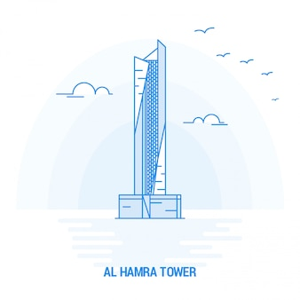 Al hamra tower blue landmark