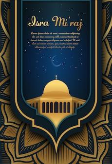 Al-isra wal mi'raj vertaal de nachtelijke reis van de profeet mohammed
