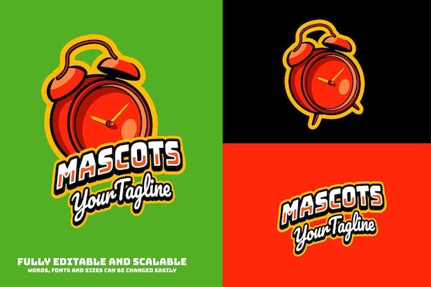Alarm mascottes logo bewerkbare tekst