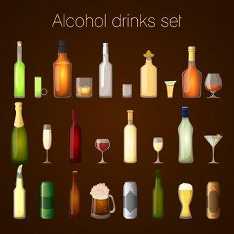 Alcohol drankjes ingesteld
