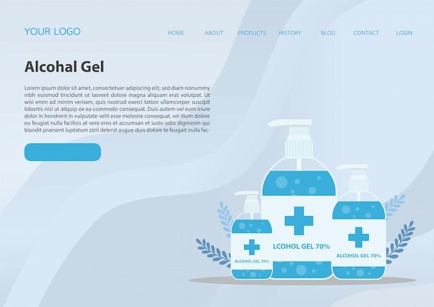 Alcohol gel. handwasgel handwasgel en bacteriën