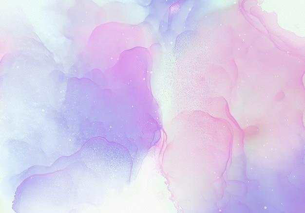 Alcohol inkt achtergrond met zachte kleuren