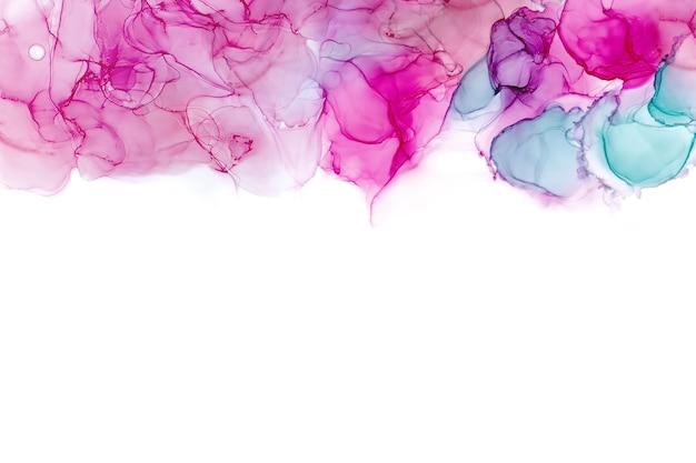 Alcohol inkt textuur. vloeibare inkt abstract schilderij