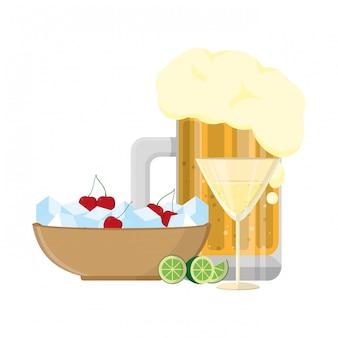 Alcoholische drank cartoon