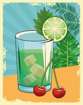 Alcoholische drank drank cartoon