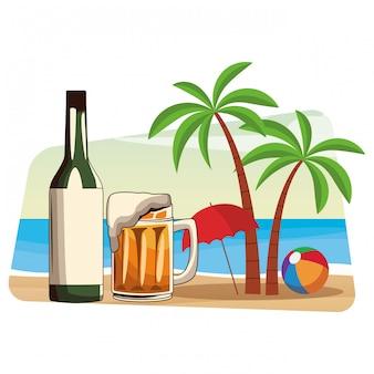 Alcoholische dranken dranken cartoon
