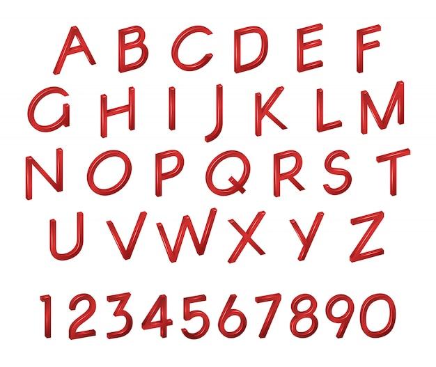 Alfabet, cijfers, lettertype isometrie