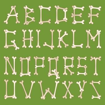 Alfabet gemaakt van botten