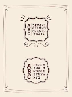 Alfabet geschreven op cover ontwerp