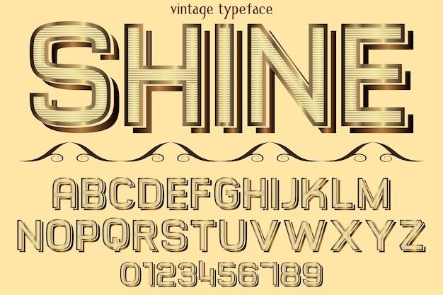 Alfabet grafische stijl glans