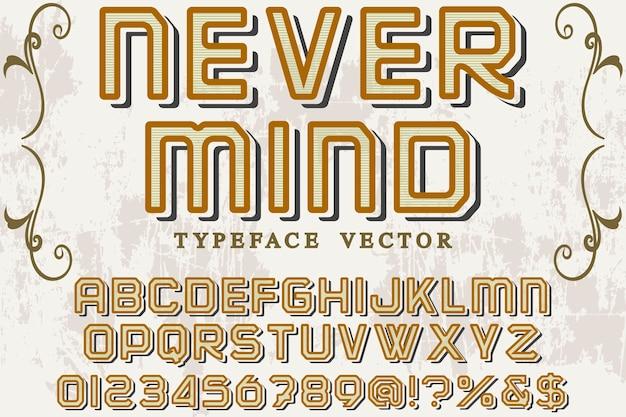 Alfabet grafische stijl nooit mino