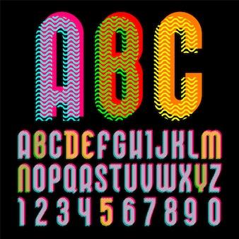 Alfabet in de stijl van de pop-art