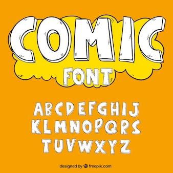 Alfabet in komische stijl