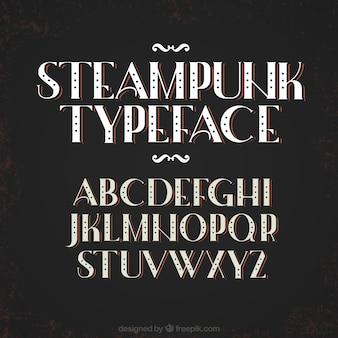 Alfabet in steampunk stijl