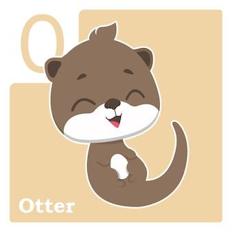 Alfabet-kaart met de letter o