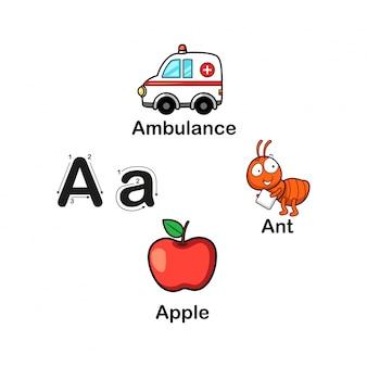 Alfabet letter a