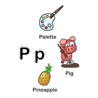 Alfabet letter p