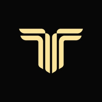 Alfabet letter t monogram logo